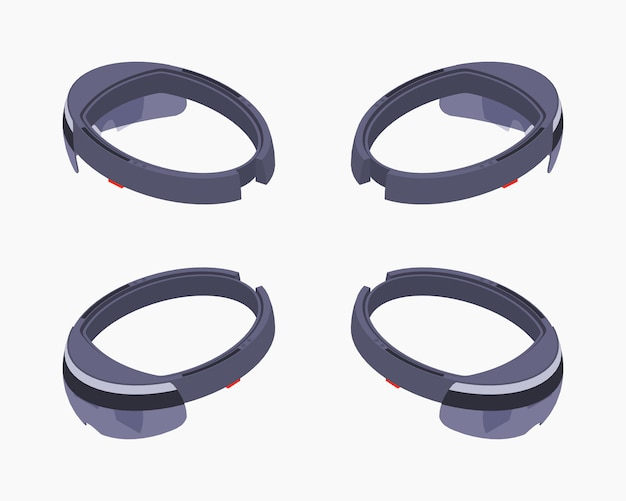 Isometric augmented reality headset.