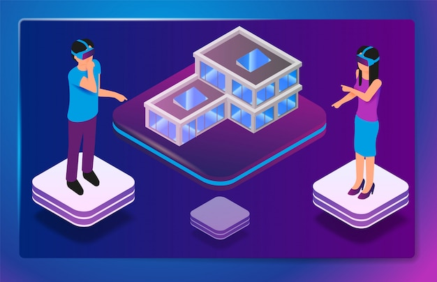 Isometric augmented virtual reality for architects