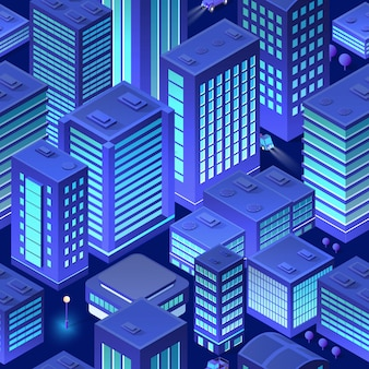 Isometric background city urban