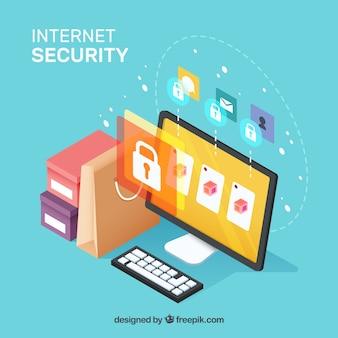 인터넷 보안의 아이소 메트릭 배경