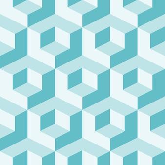 キューブと等角投影の背景。未来的な幾何学的なシームレスパターン。ボリュームの目の錯覚