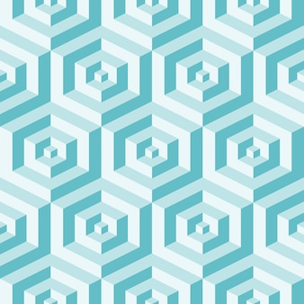 Isometric  background with cubes. futuristic geometric seamless pattern. optical illusion of volume