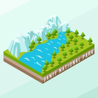 Isometric banff national park