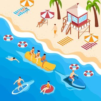 Isometric beach concept