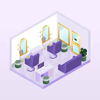 Isometric beauty salon