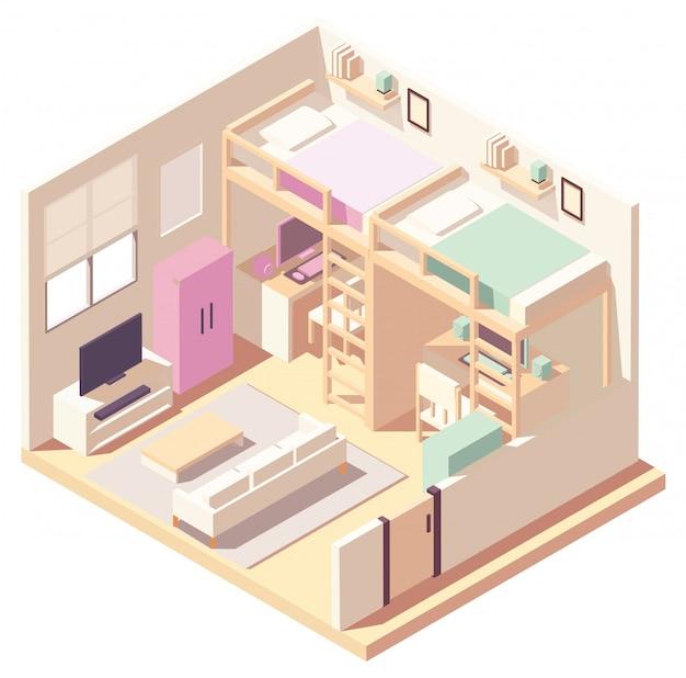 Изометрическая спальня