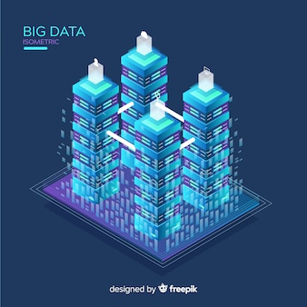 Isometric big data background