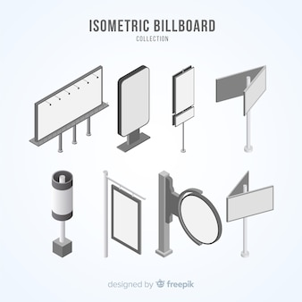 Isometric billboard collection