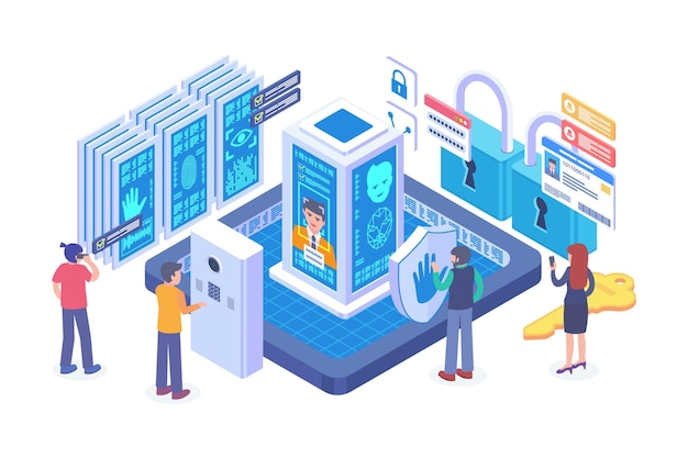 Isometric biometric authentication technology