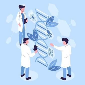 Concetto di biotecnologia isometrica