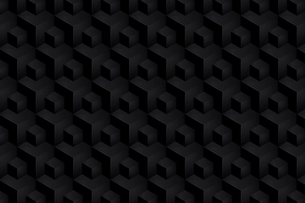 Isometric black abstract background