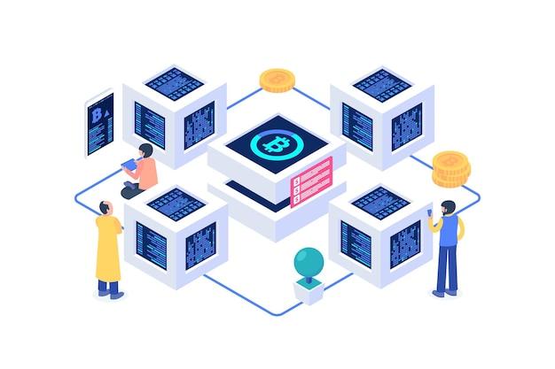 Изометрическая концепция блокчейна