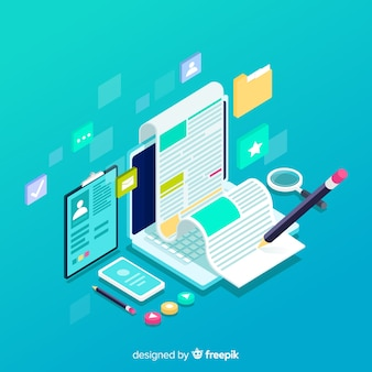 Isometric blogging concept