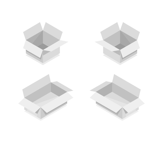 Isometric box collection