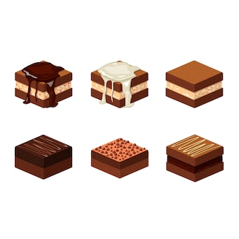 Isometric brownie collection