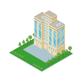 Isometric building 3d