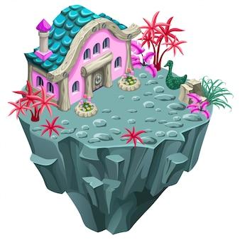 島の等尺性の建物。