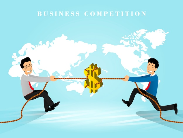 Isometric  of business competition