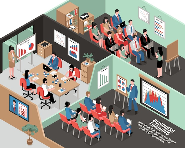 Isometric business illustration
