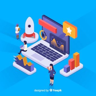 Isometric business infographic