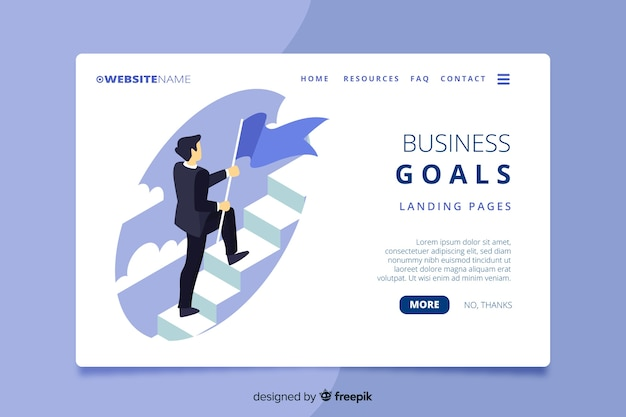 Isometric business landing page
