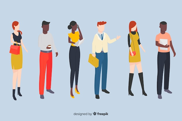Isometric business people illustrations