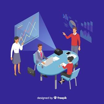 会議の等尺性ビジネス人々