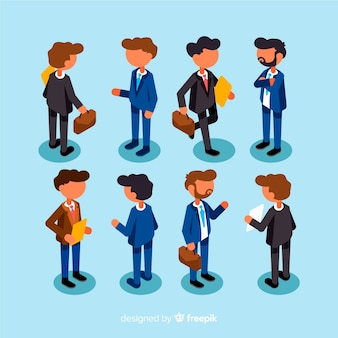 Isometric business people
