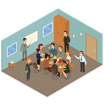 Isometric business presentation