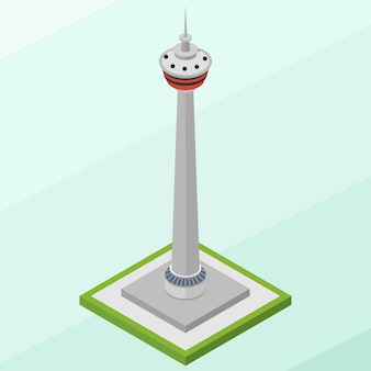 Isometric calgary tower building