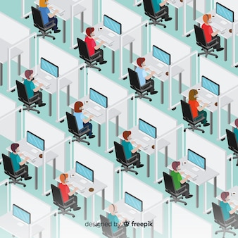 Isometric call center concept