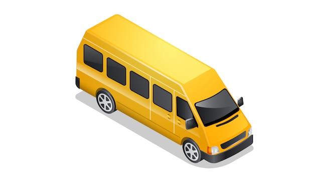 Иконка автомобиль изометрии, изолированные на белом
