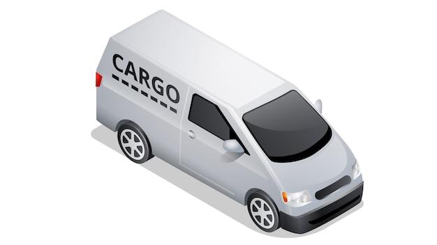 Isometric car icon isolated on white