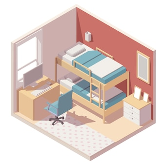 Isometric children room
