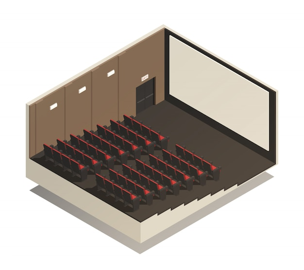 Isometric cinema composition