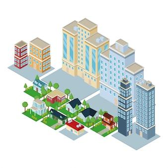 Isometric city 3d