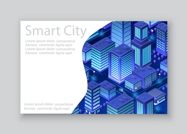 Isometric city business card