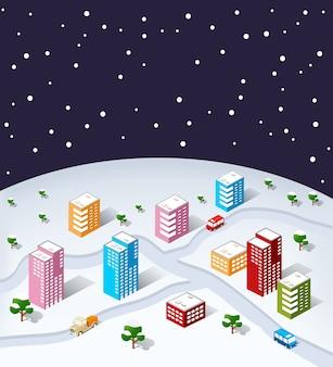 Isometric city christmas.