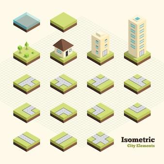Isometric city elements