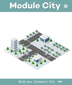 Isometric city landscape