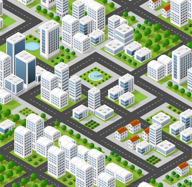 Isometric city landscape