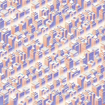 Isometric city set 3d modern town street urban architecture seamless urban plan pattern map landscape structure of city buildings skyscrapers vector illustration map for the business design concept