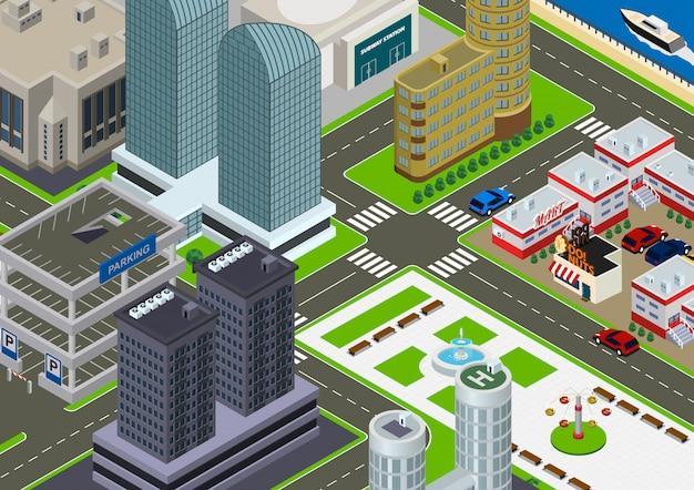 Isometric cityscape illustration