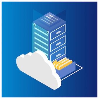Isometric cloud computing concept