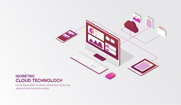 Isometric cloud storage technology