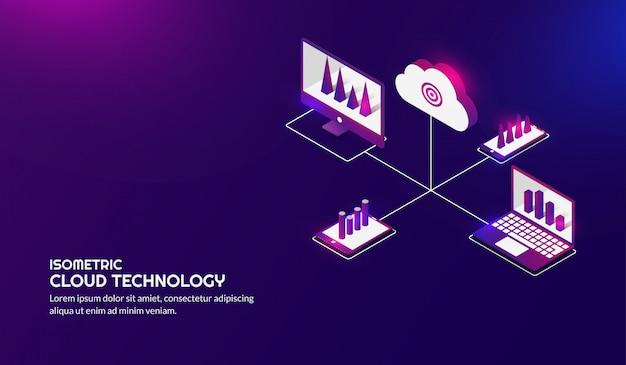 Isometric cloud storage technology