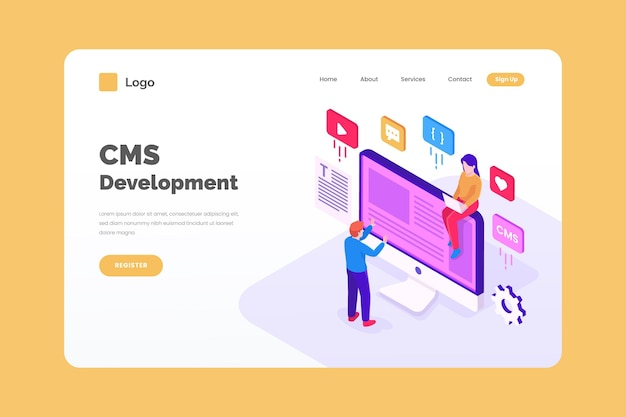 Isometric cms development concept