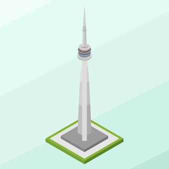 Isometric cn tower building