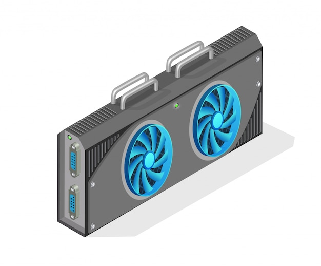 Isometric computer video card