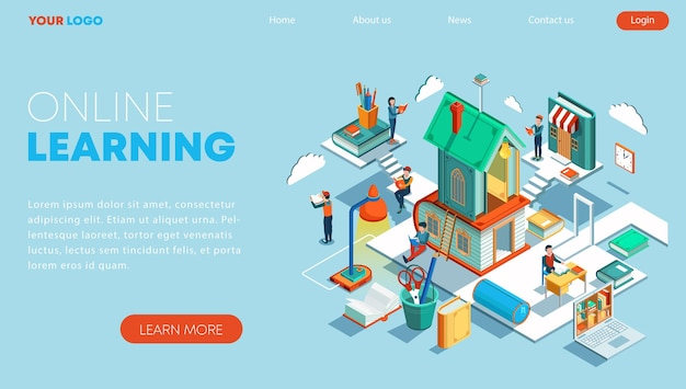 Isometric concept of online education